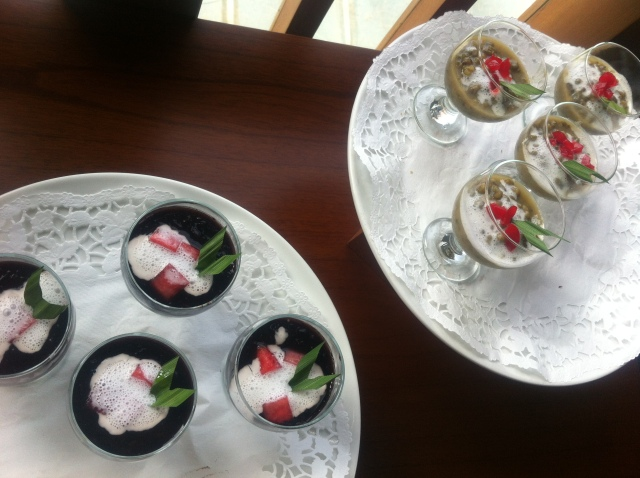Bubur at Sangria Hotel's breakfast buffet, Lembang.