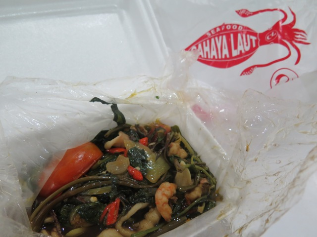 Kangkung makanan laut from Warung Cahaya Laut, Jalan Jawa.