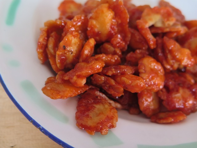 Emping manis pedas - emping sweet and spicy.