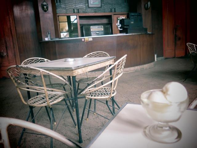 Es krim kopyor at Sumber Hidangan, Jalan Braga. An ancient bakery that's barely changed in 85 years.
