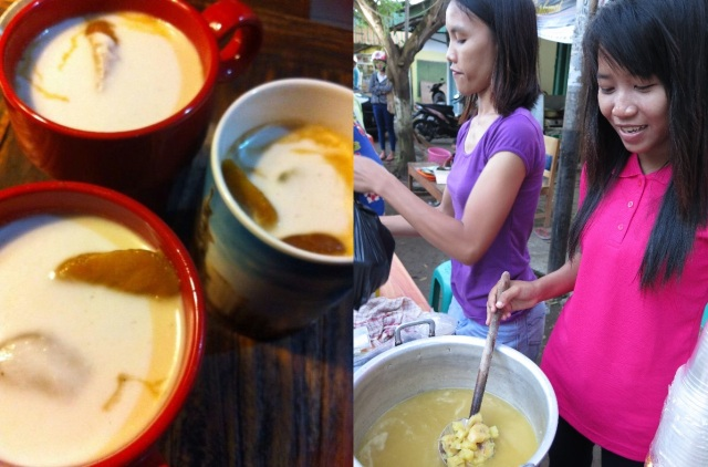 Kolak whipped up for buka puasa by Aisah Wolfard, and kolak sellers in Cilacap during Ramadan.
