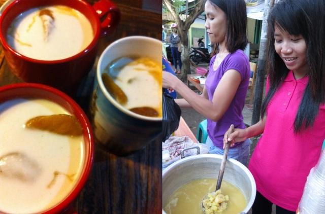 Kolak whipped up for buka puasa by Aisah Wolfard, and kolak sellers in Cilacap during Ramadan.