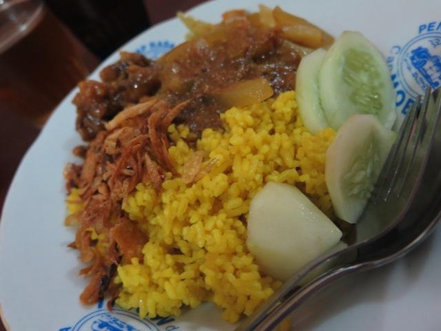Nasi kuning on Jalan Cibadak.