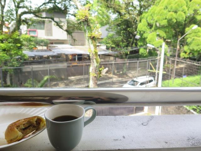 Saturday morning brekkie on my boarding house's balcony.