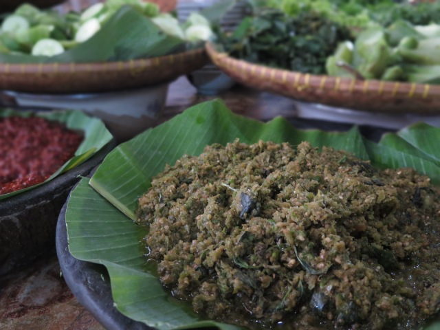 Sambal hijau at Nasi Bancakan, Jalan Trunojoyo.