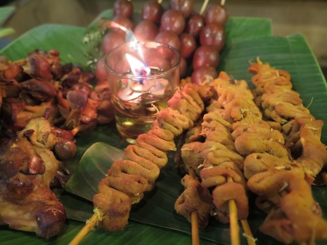 Usus ayam (bottom left) at Warung Nasi Ampera, Jalan Trunojoyo.