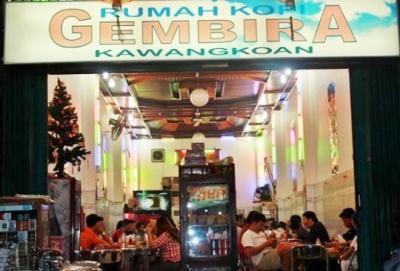 Rumah Kopi Gembira, Jalan Raya Kawangkoan.
