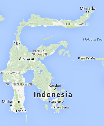 Map of Sulawesi