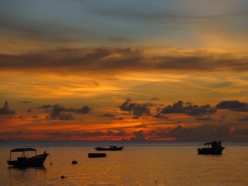 Sulawesi sunsets last for hours.
