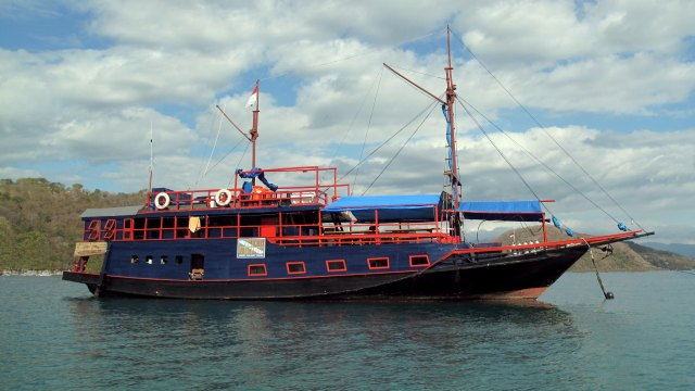 The good ship Cakrawala Biru.